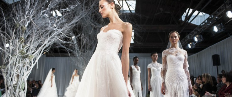 Naked brides take the plunge in racy gowns at Bridal 68